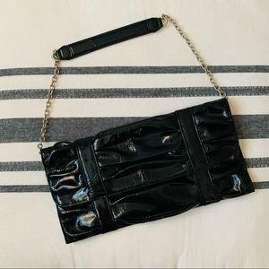 Black Clutch Bag with chain strap